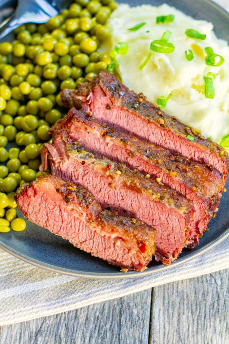 This easy yet flavourful and tender corned beef brisket is made conveniently in the Instant Pot in no time!