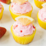 Lemon Strawberry Cupcakes