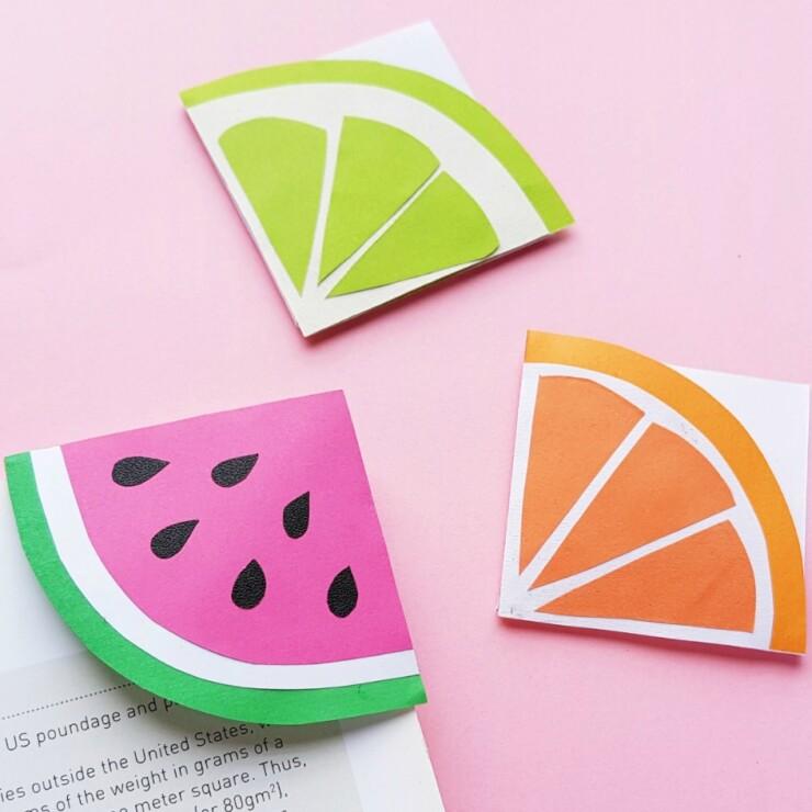 Fruit Slice Corner Bookmarks