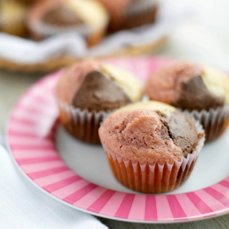 Neapolitan Ice Cream Muffins