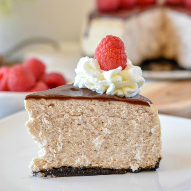 Instant Pot Raspberry Cheesecake