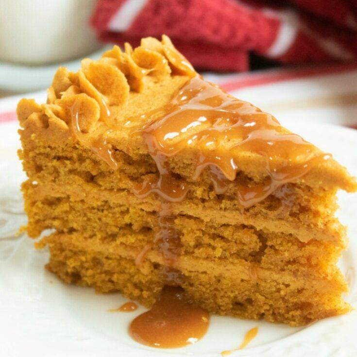 Pumpkin Torte with Pumpkin Ganache