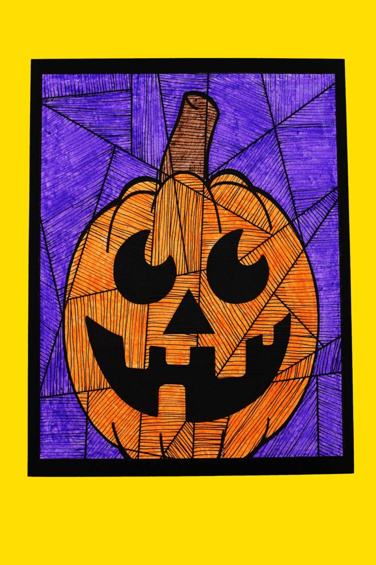 This Line Study Pumpkin Art for Kids is a fun project for Halloween that will let kids get really creative with lines and colours.