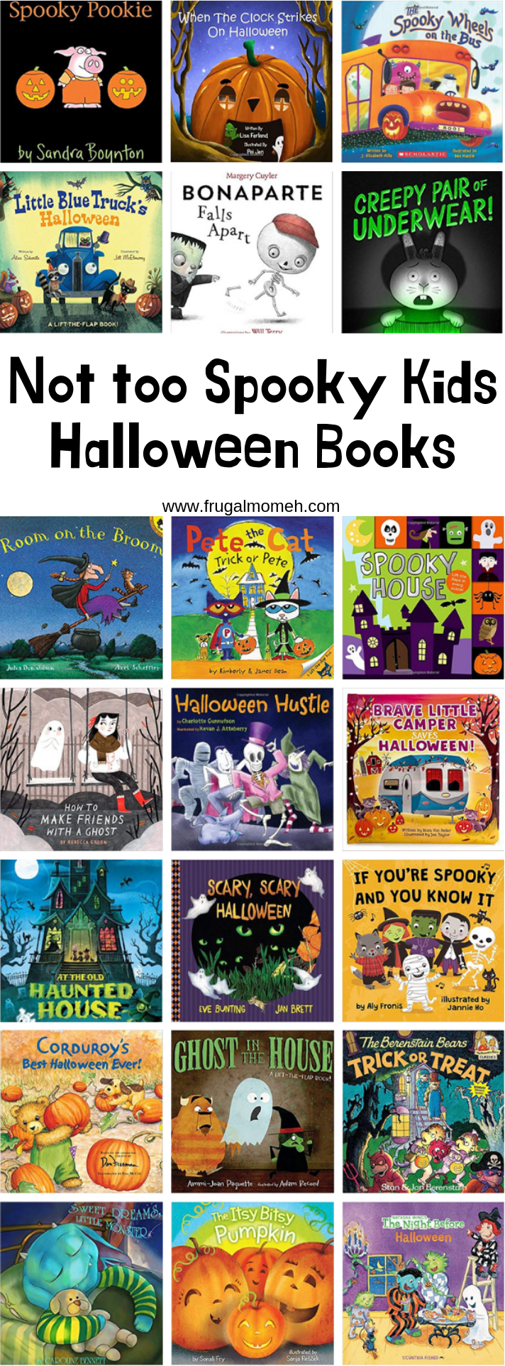"Your kids will love sitting down and reading these ""not too spooky kids Halloween books"". Perfect for celebrating the season with little ones!"