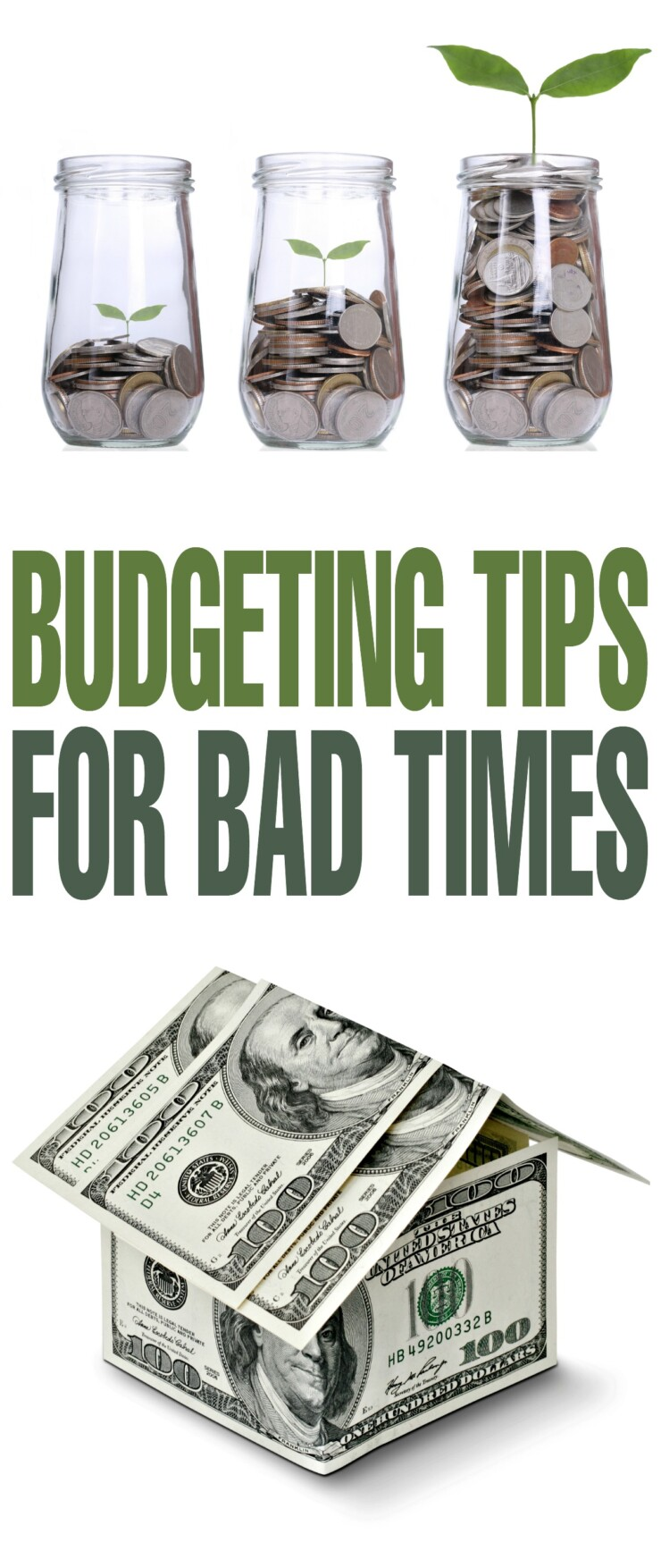 In order to be prepared during an emergency, you are going to want to make sure you find a way to save some money and these budgeting tips for bad times are a great place to start!
