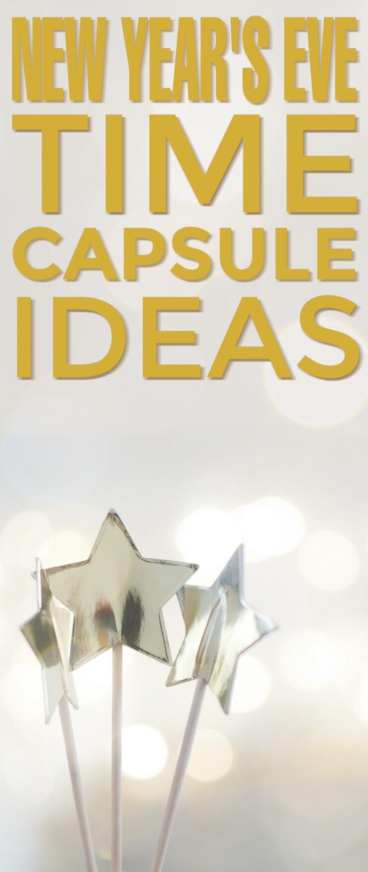 New Year's Eve is the perfect holiday to celebrate a fantastic year. Celebrate with a time capsule, you can open it the next year and reflect on how wonderful the last year has been for you.