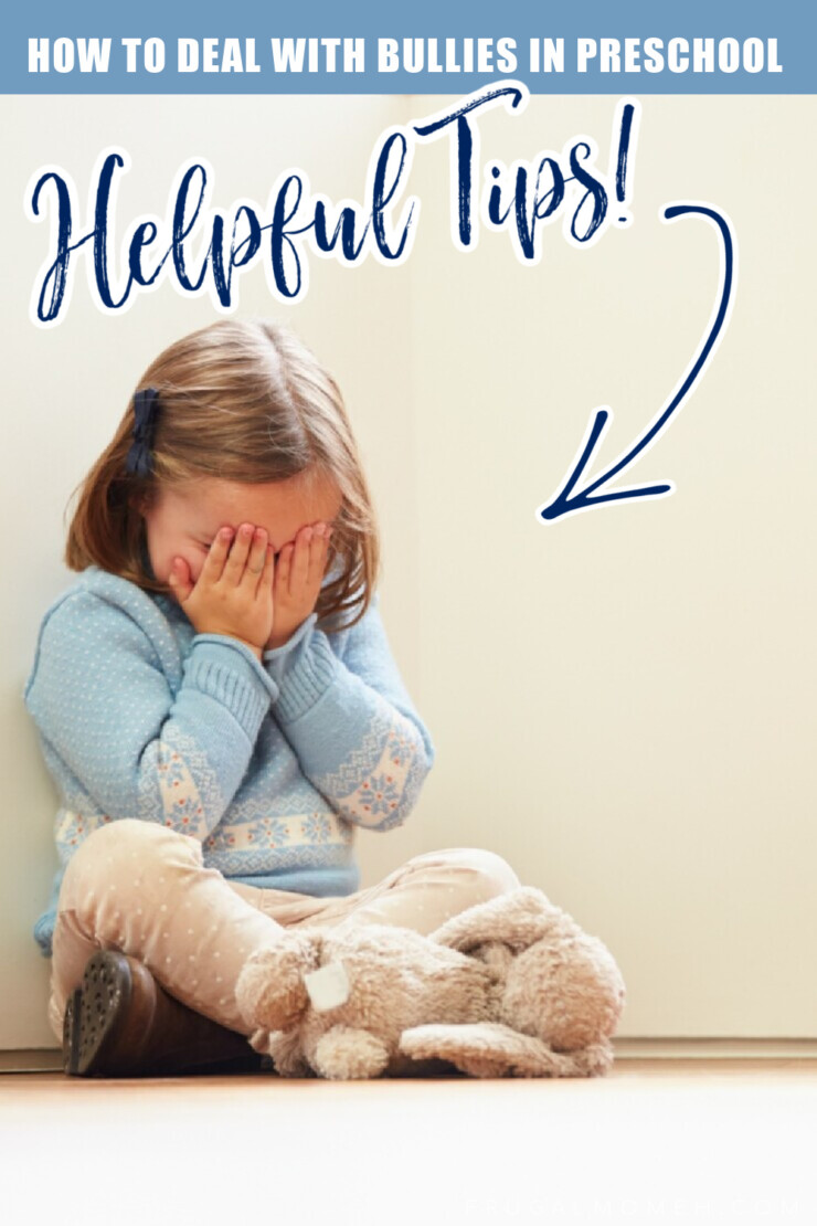 Helpful tips and ideas for how to deal with bullies in Preschool. Give your child the skills and understanding they need to deal with a bully.