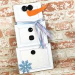Picture Frame Snowman Door Hanger