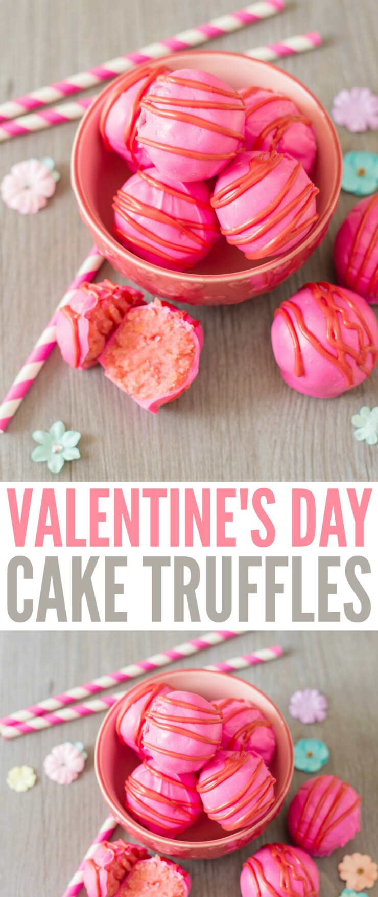 These Valentine's Day Cake Truffles are sure to impress everyone this Valentine's Day! These little bites of creamy cake covered in chocolate are just so delicious. Valentine's Day Cake Balls are easy to make and perfectly festive.