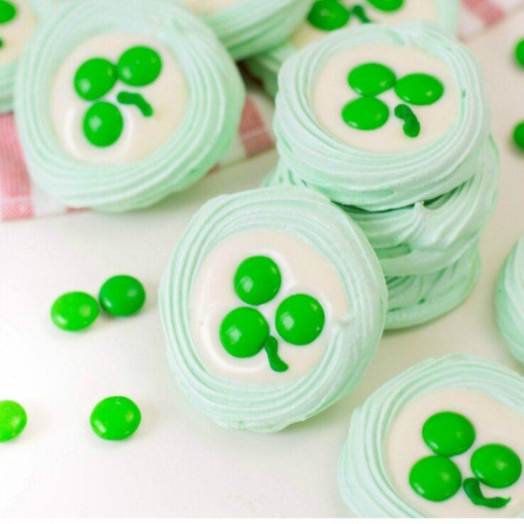 St. Patrick's Day Meringues