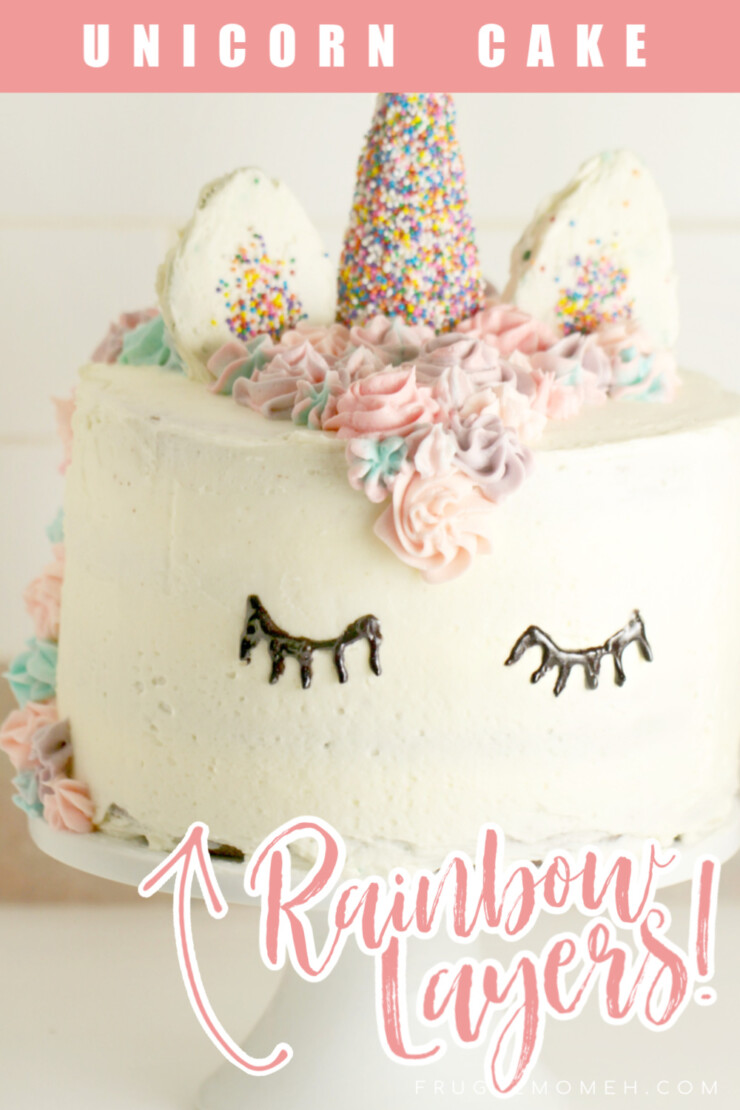 Stun any unicorn lover with this gorgeous and impressive unicorn cake with rainbow layers! This cake is deceptively simple for any level of baker to make, it is perfect for any birthday party - no matter how small or large!