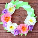 Crepe Paper Floral Wreath