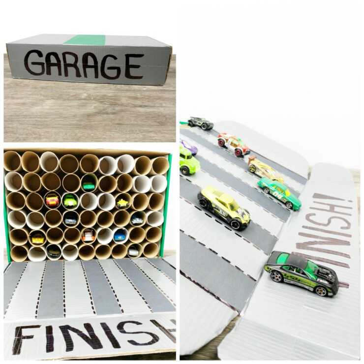 Portable Garage with Mini Race Track