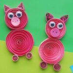 Quilled Pig Craft for Kids