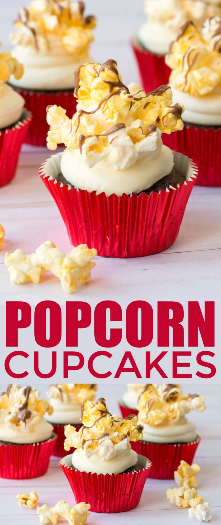 Make family movie night extra special with these adorable Popcorn Cucakes! Perfect for a movie themed birthday party or just for fun.