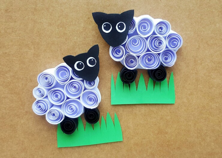 Kids will love making these cute little Quilled Paper Sheep as their next craft project. Use them on cards, glue them onto popsicle sticks to make bookmarks, turn them into magnets… the possibilities for these little cuties are endless!