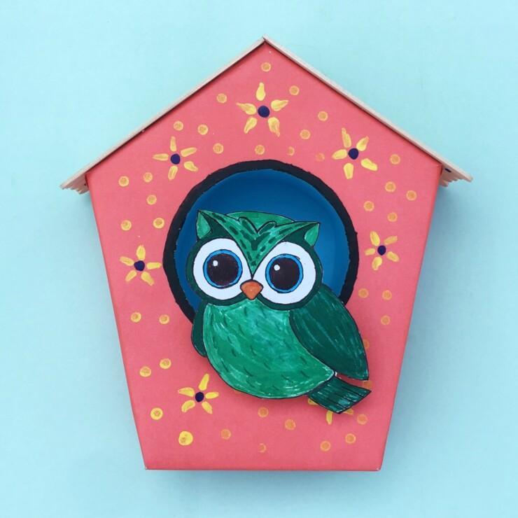 Styrofoam And Paper Birdhouse