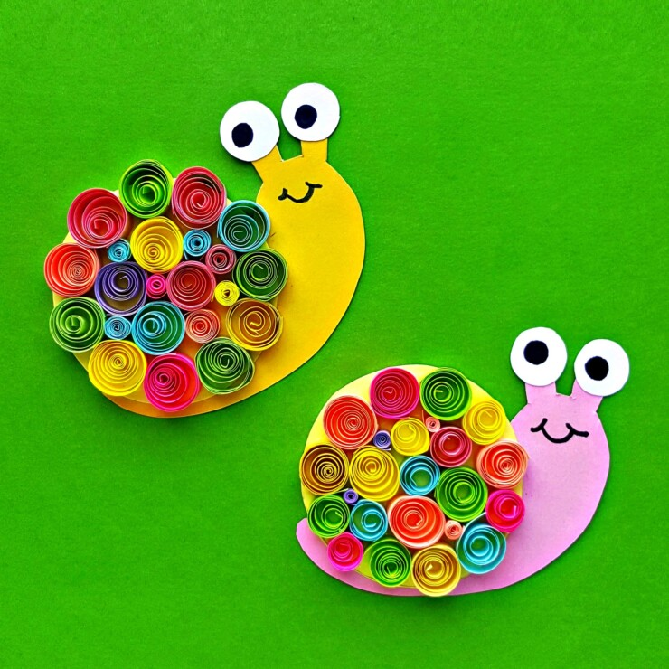 Quilled Paper Snails