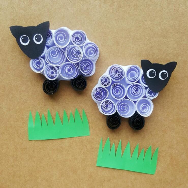 Quilled Sheep Kids Craft