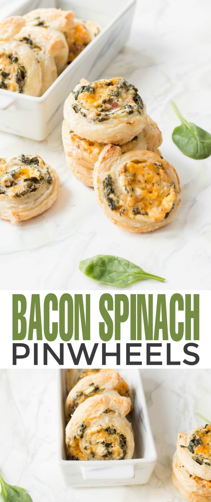 When it comes to entertaining, having an easy and delicious appetizer in your repetoir like these Bacon Spinach Pinwheels is a must. They are a crowd pleasing appetizer made with ingredients that are easy to find which are sure to make them a go-to recipe.