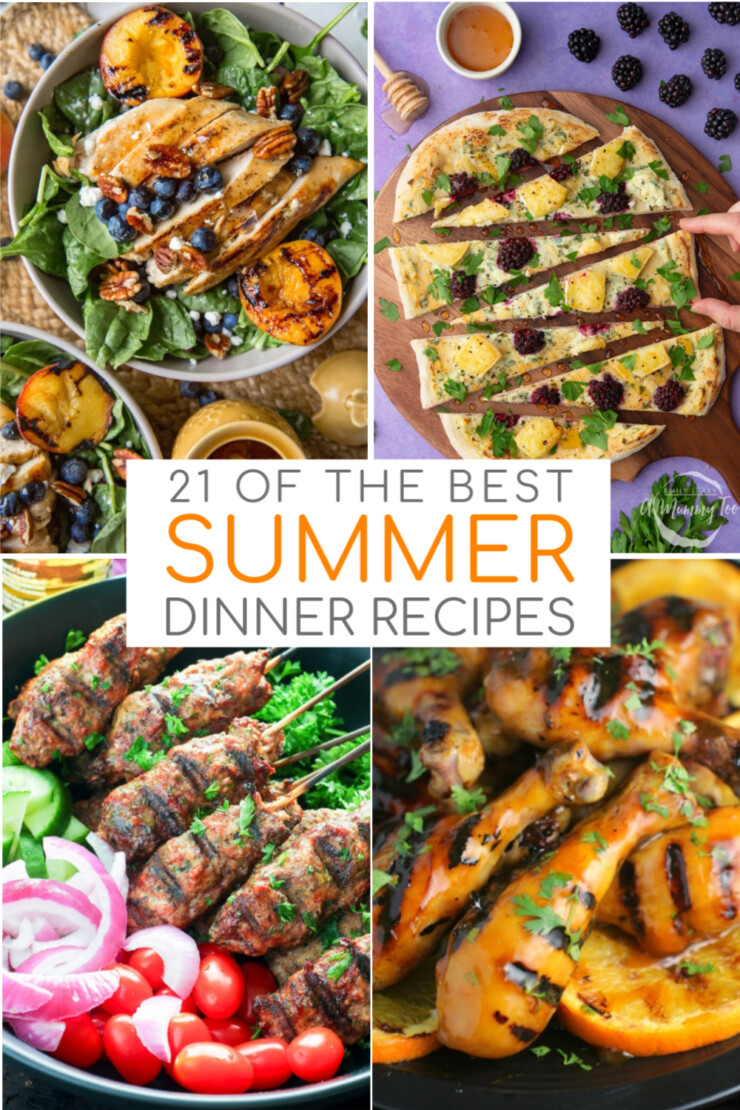 21 of the BEST easy summer dinner recipes that are simply ideal for hot summer nights so you can enjoy everything the season brings.