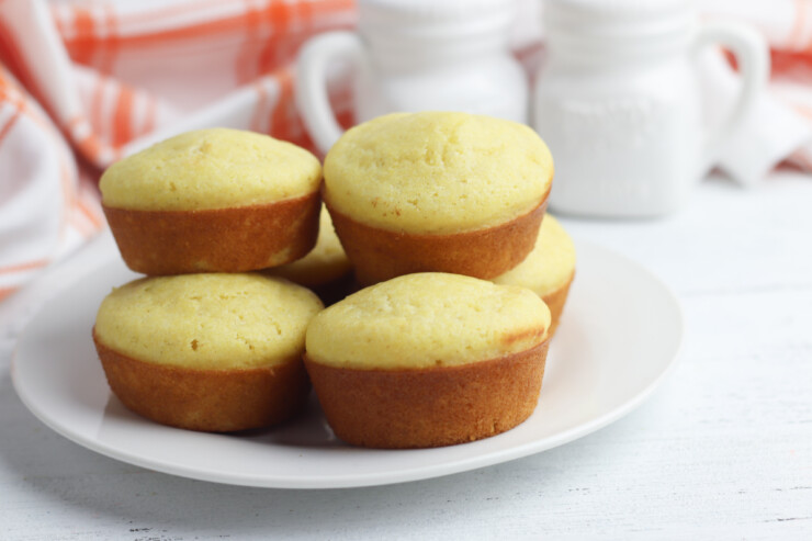 These basic homemade cornbread muffins are easy to make from scratch. This recipe yields a moist corn muffin that are just sweet enough to complement the cornmeal. Serve while they are still hot and fresh from the oven smothered in butter!