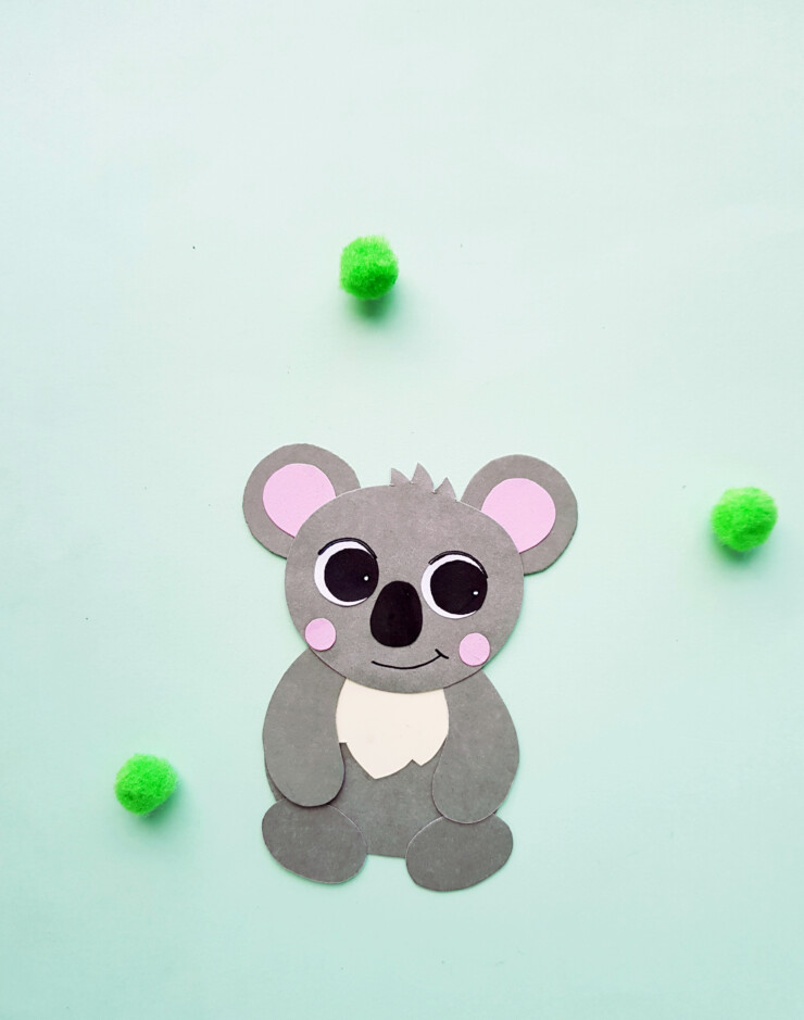 These Koala Bookmarks are a cute kids paper craft that is made easy with a free printable template. The Koala hugs your books pages,marking your spot.