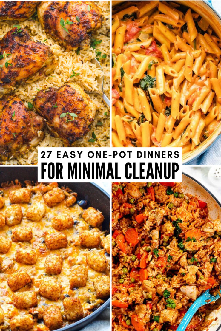 Why spend ages cleaning up after dinner when you can use recipes for dishes that only call for one pot or pan? Our favorite weeknight dinners are easy to make and even easier to clean up. These easy one-pot dinnner recipes are prepared in a single pot, sheet pan or skillet.