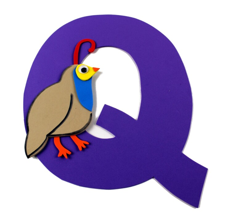 Alphabet Crafts For Kids: Q is for Quail