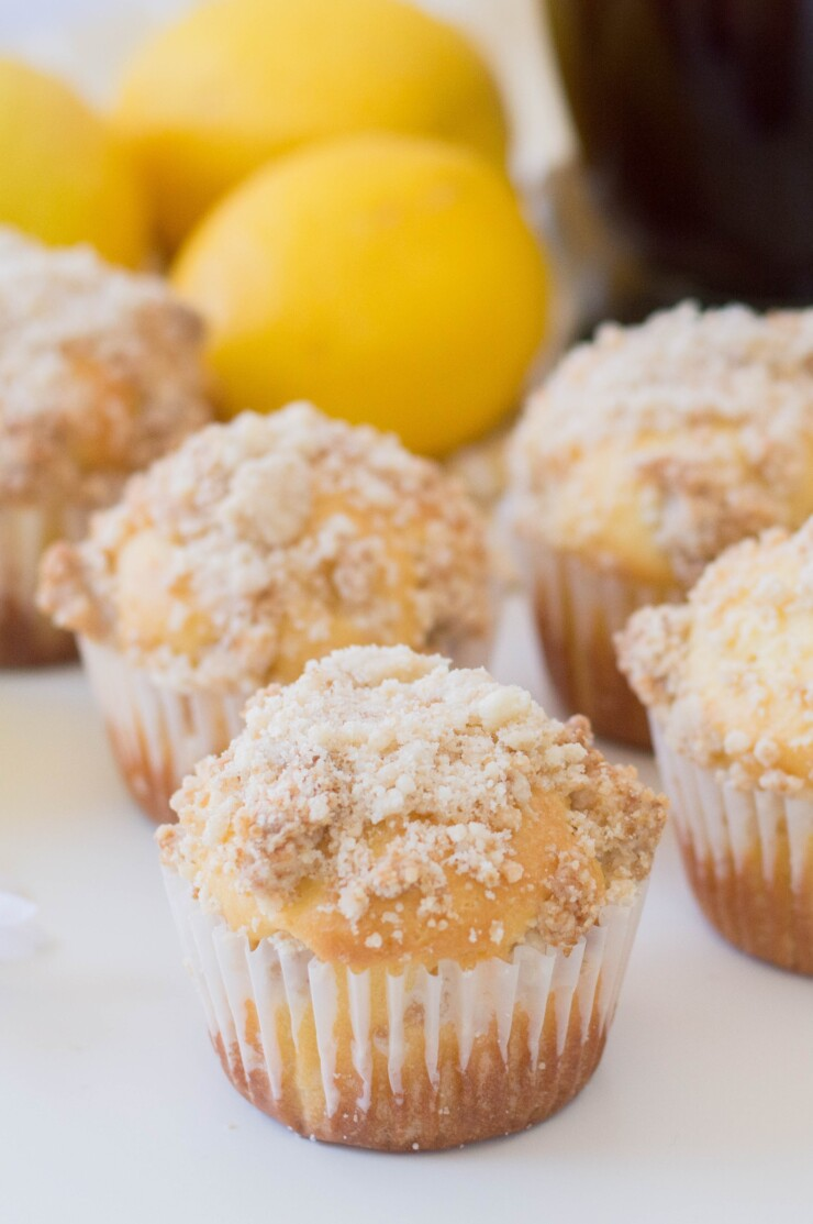 Lemon lovers will love these tangy lemon crumble muffins, a perfect addition to breakfast or mid-morning snack. These lemon muffins are bright, fresh, and so tender and moist with satisfying crunch from the streusel topping.