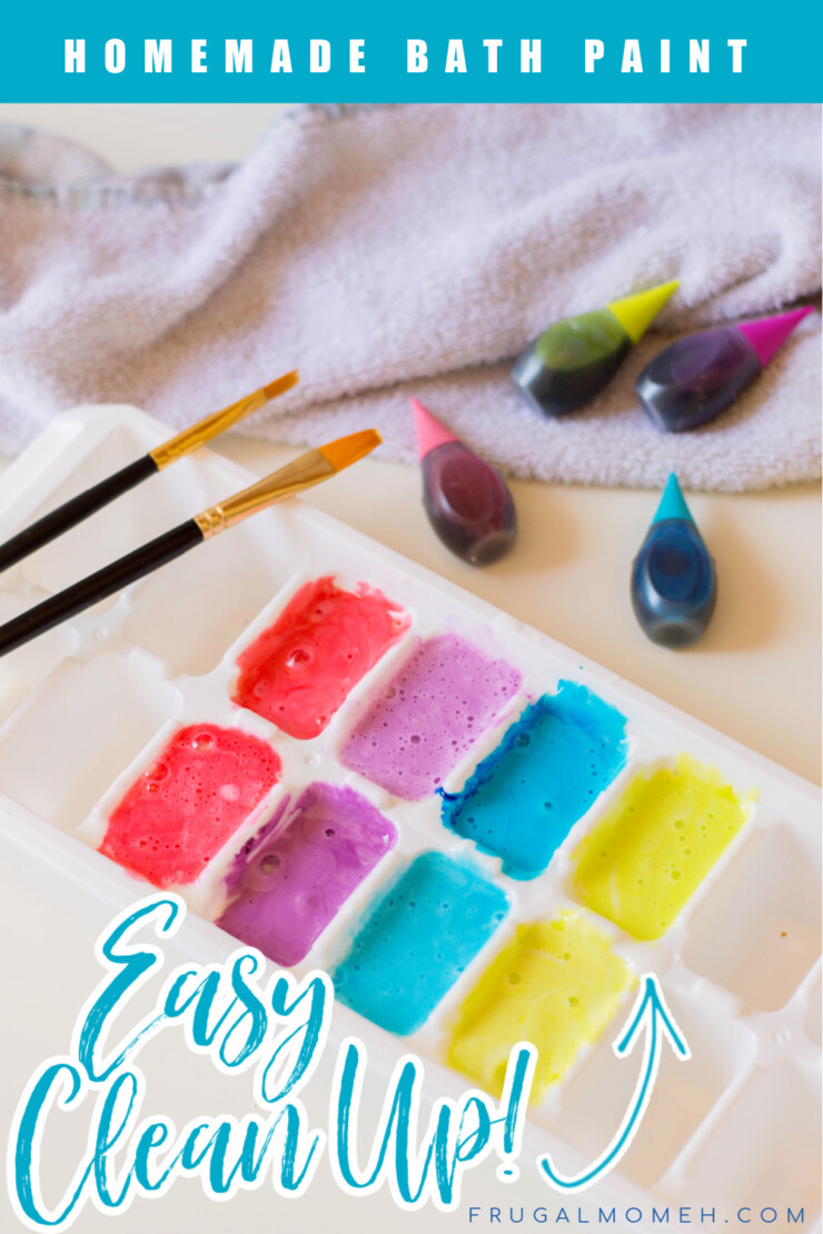 These homemade bath paints are a perfect bath activity for little kids - they are also washable and do not stain. The colours come out super bright and are made from only three simple ingredients.