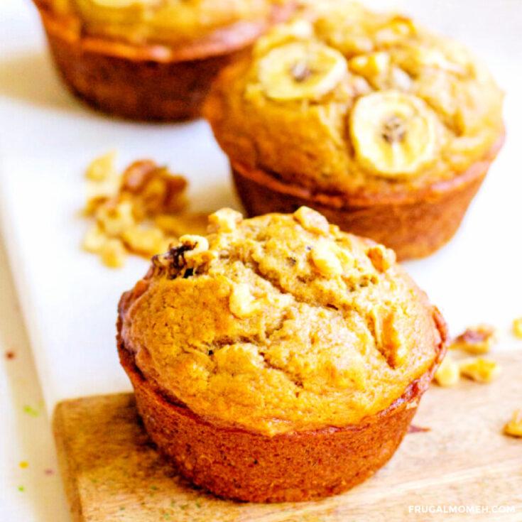 Pumpkin Spiced Banana Nut Muffins
