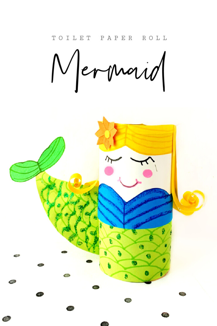 This adorable toilet paper roll mermaid craft is perfect for any little mermaid lovers. It comes with a free printable template to help make it an easy and fun mermaid craft for all ages!
