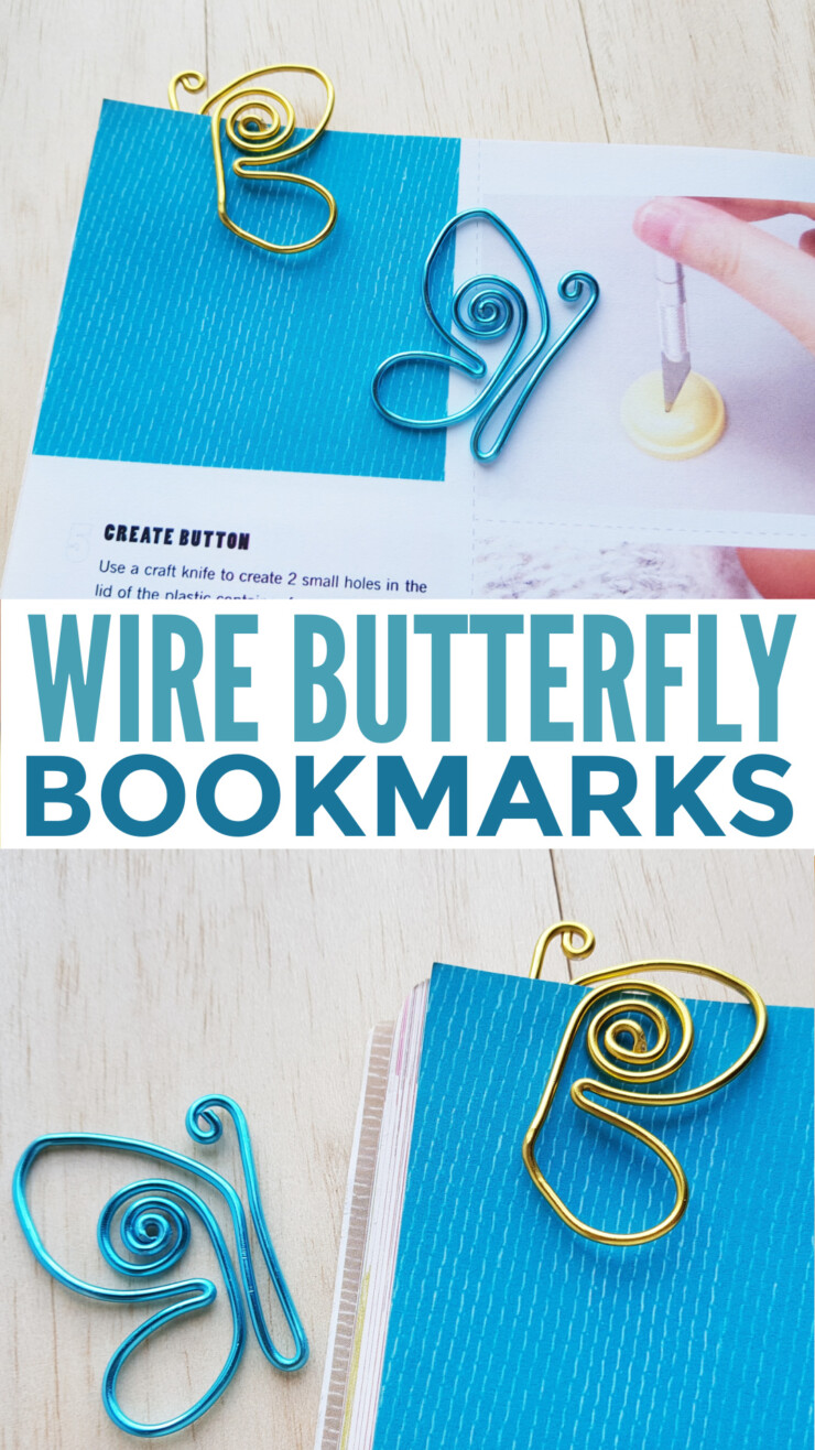 This simple wire craft results in elegant wire butterfly bookmarks that will be the envy of all your book club buddies.