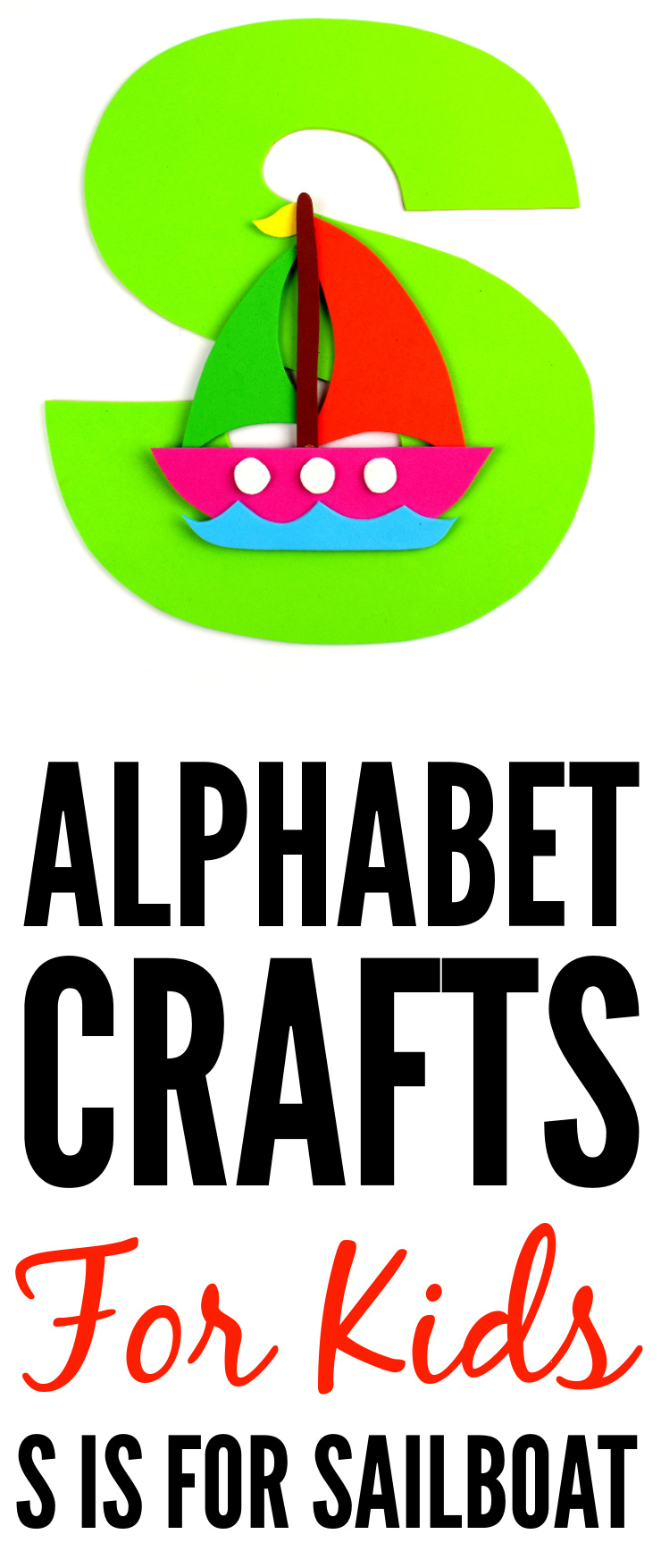 This week in my series of ABCs kids crafts featuring the Alphabet, we are doing an S is for Sailboat craft. These Alphabet Crafts For Kids are a fun way to introduce your child to the alphabet.