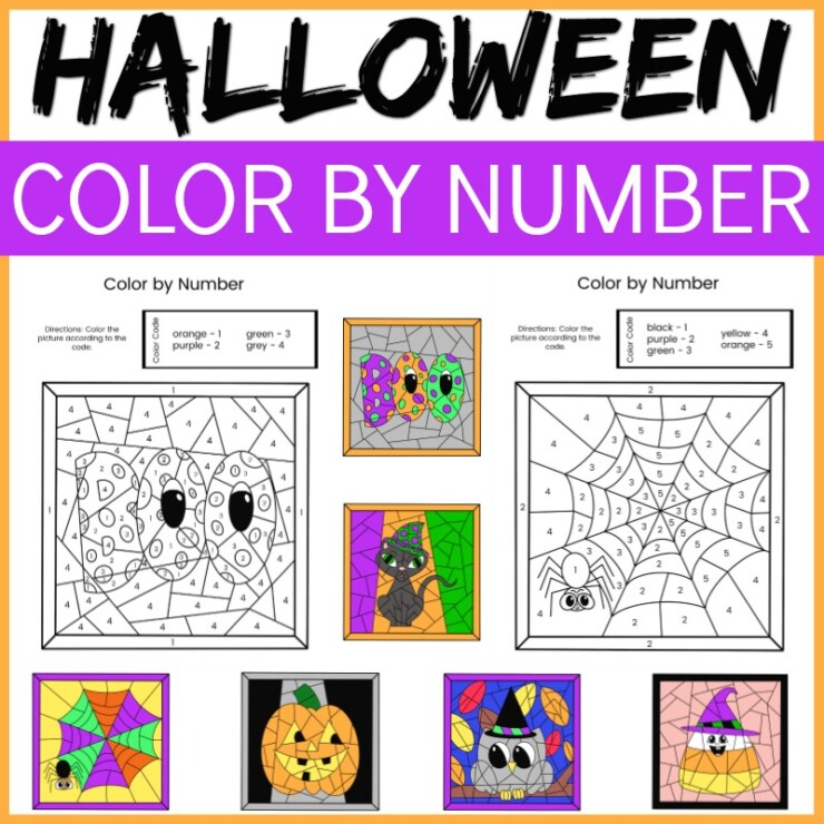 Halloween Colour by Number
