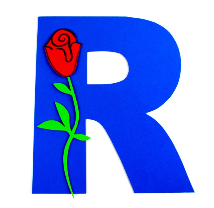 Alphabet Crafts For Kids: R is for Rose