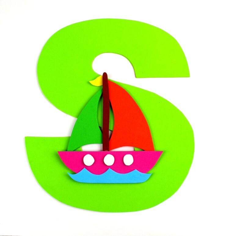 Alphabet Crafts For Kids: S is for Sailboat