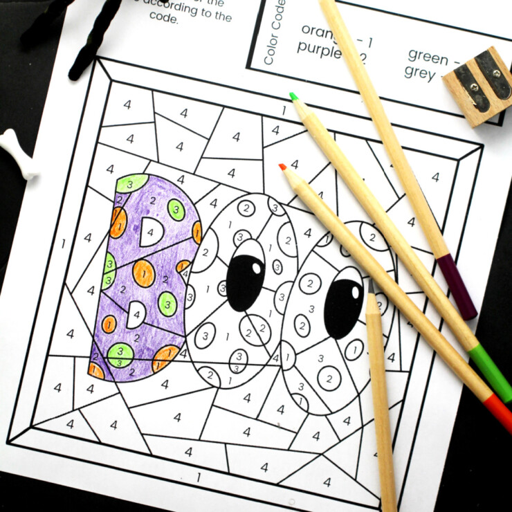 Halloween Colour by Number Free Printable Sheets