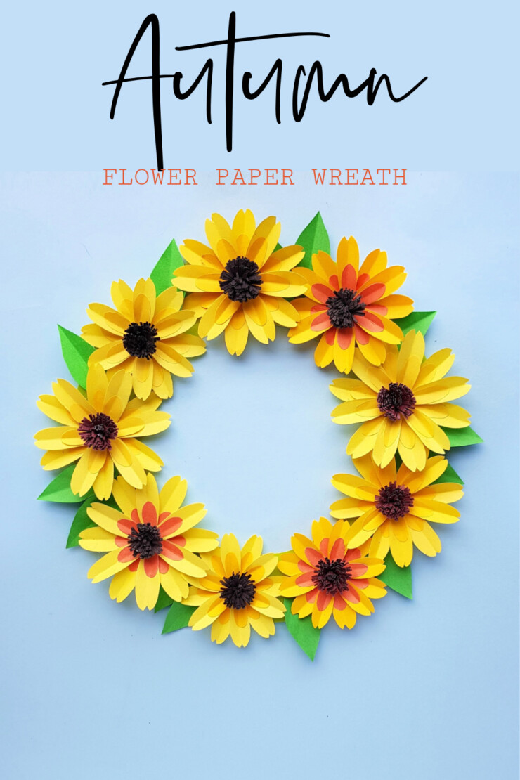 Bring on Autumn with this adorable Fall Paper Flower Wreath craft. This project is an easy paper crafting project for the autumn that any level of crafter can accomplish.