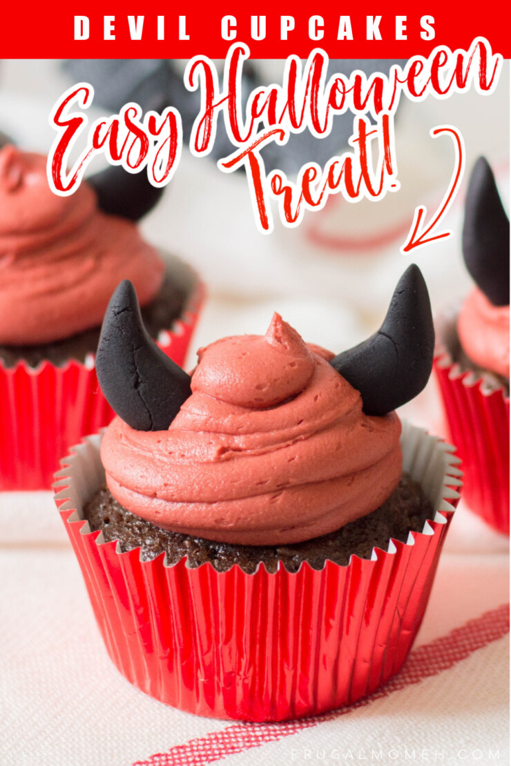 These easy Devil Cupcakes are perfect for even the most novice home baker to perfect. Make them for your class Halloween party or even just for a small celebration at home with your family.