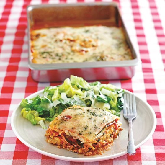 The Dirty, Lazy, Keto Dirt Cheap Cookbook: Lunch Line Lasagna Recipe