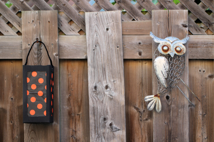 Go for a little Halloween glow with these simple milk carton Halloween lanterns thanks to this easy DIY lantern craft. Use a milk carton to make the frame and other basic craft supplies from your home to make these Halloween paper lanterns.