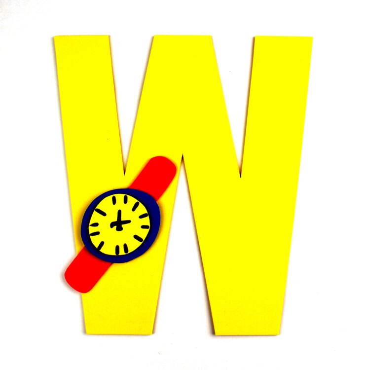 Alphabet Crafts For Kids: W is for Watch