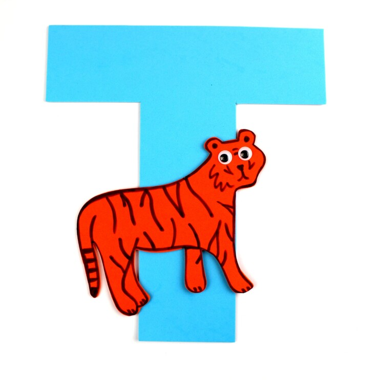 Alphabet Crafts For Kids: T is for Tiger