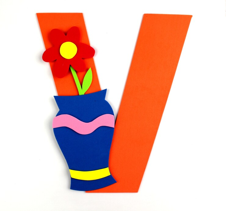 Alphabet Crafts For Kids: V is for Vase