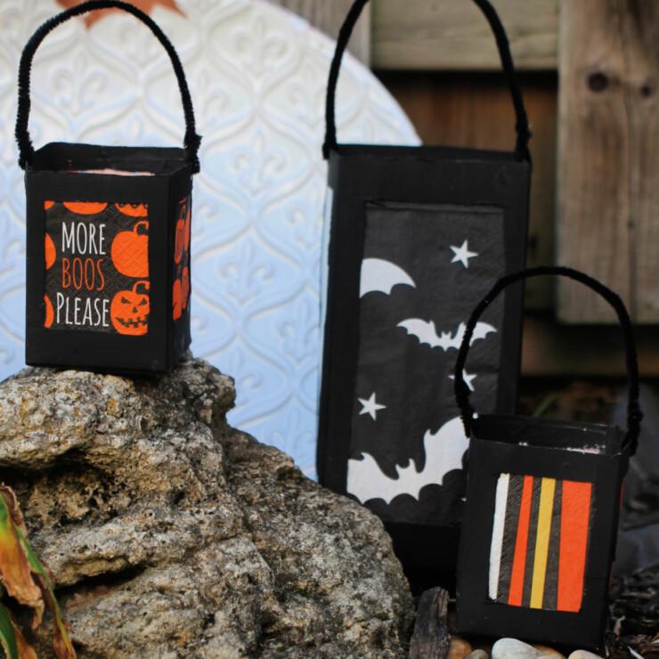 Milk Carton Halloween Lanterns