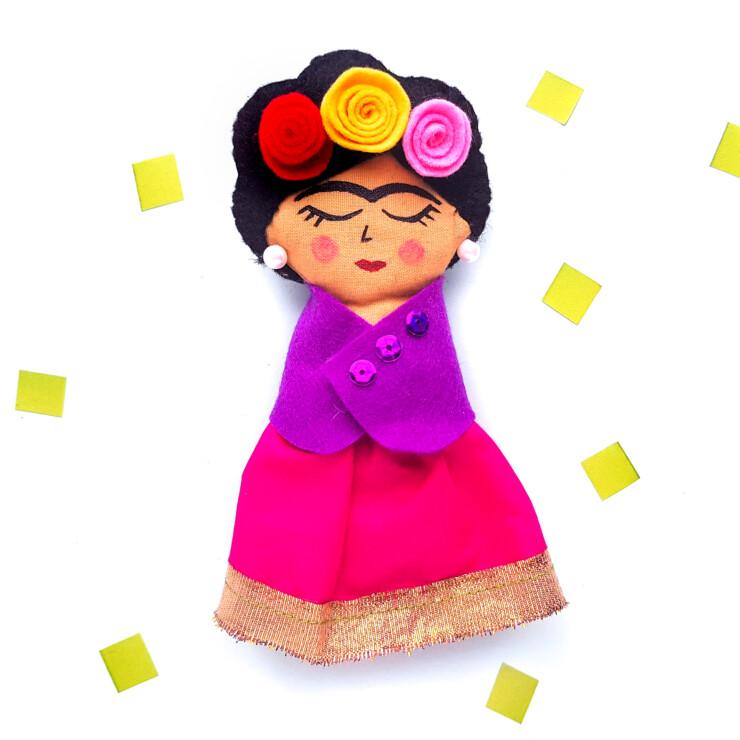 DIY Frida Kahlo Rag Doll