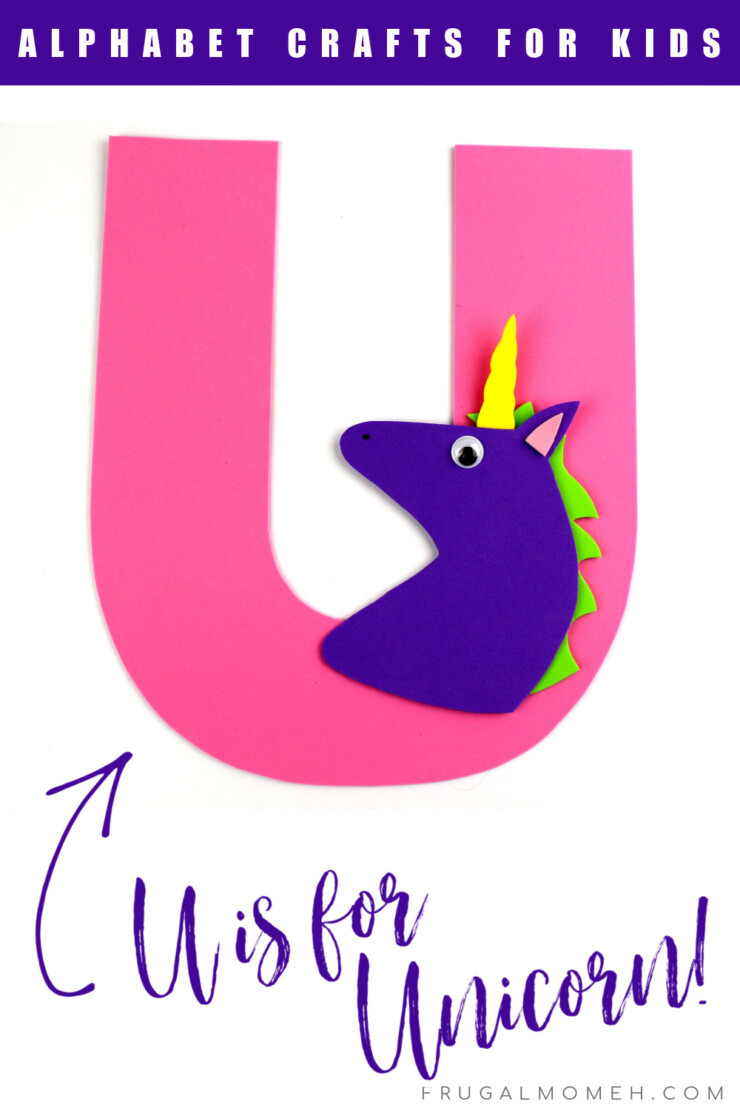 This week in my series of ABCs kids crafts featuring the Alphabet, we are doing a U is for Unicorn craft. These Alphabet Crafts For Kids are a fun way to introduce your child to the alphabet.