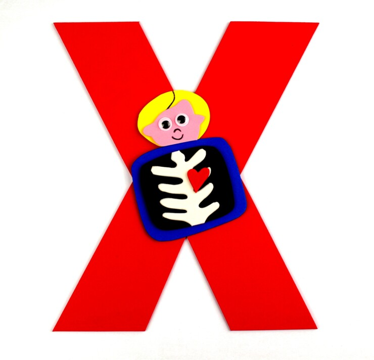 Alphabet Crafts For Kids: X is for X-Ray